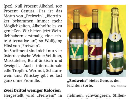 Wiener Bezirkszeitung: Freiwein – Prost ohne Promille